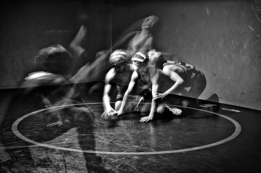 wrestlers in  creative motion