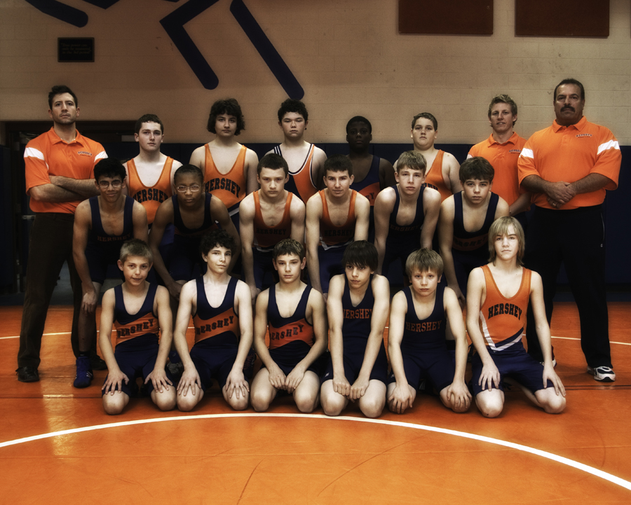 Hershey Middle School wrestling team 2011