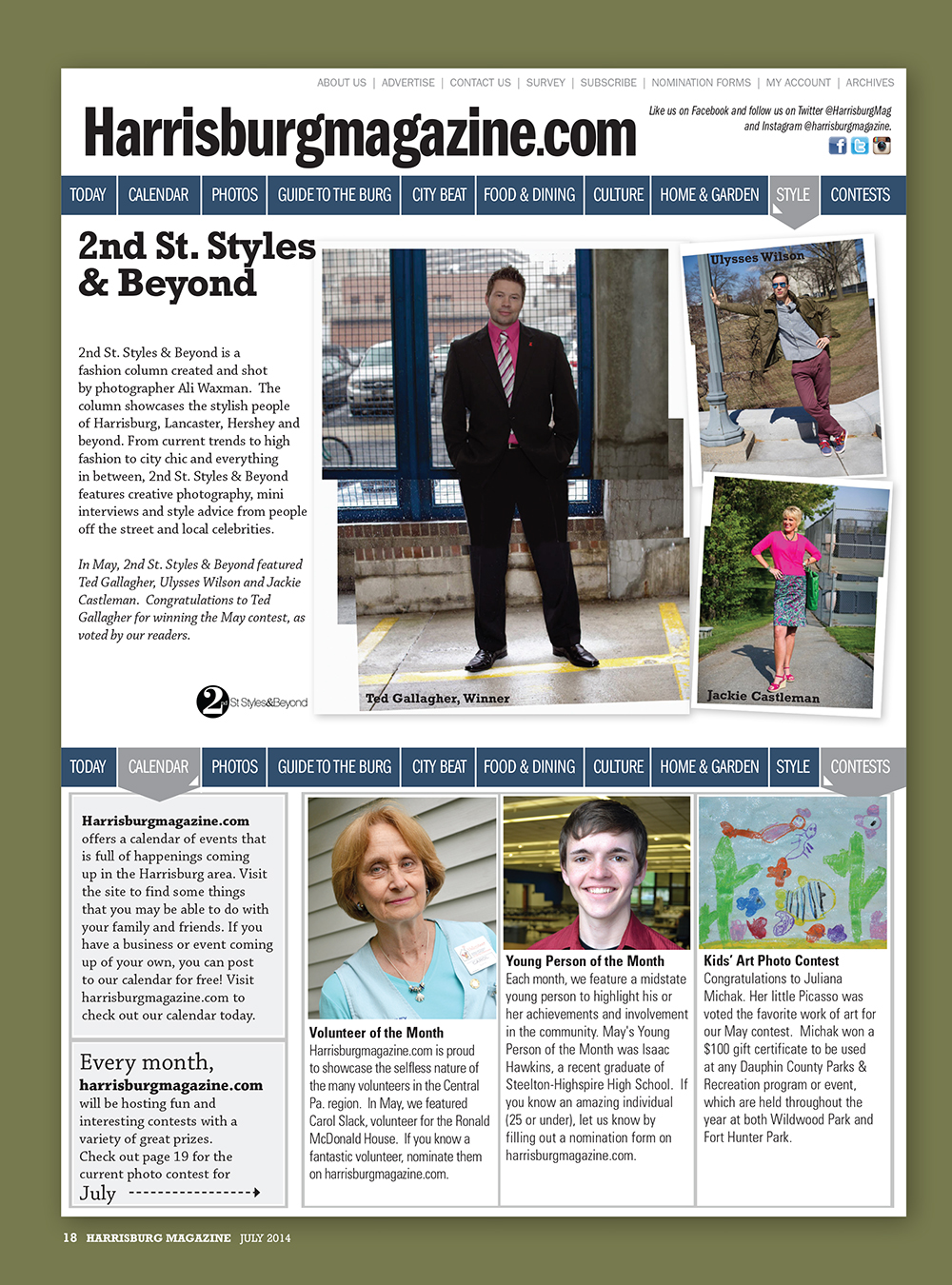 JULY 2014 Harrisburg Magazine's 2nd St Styles & Beyond