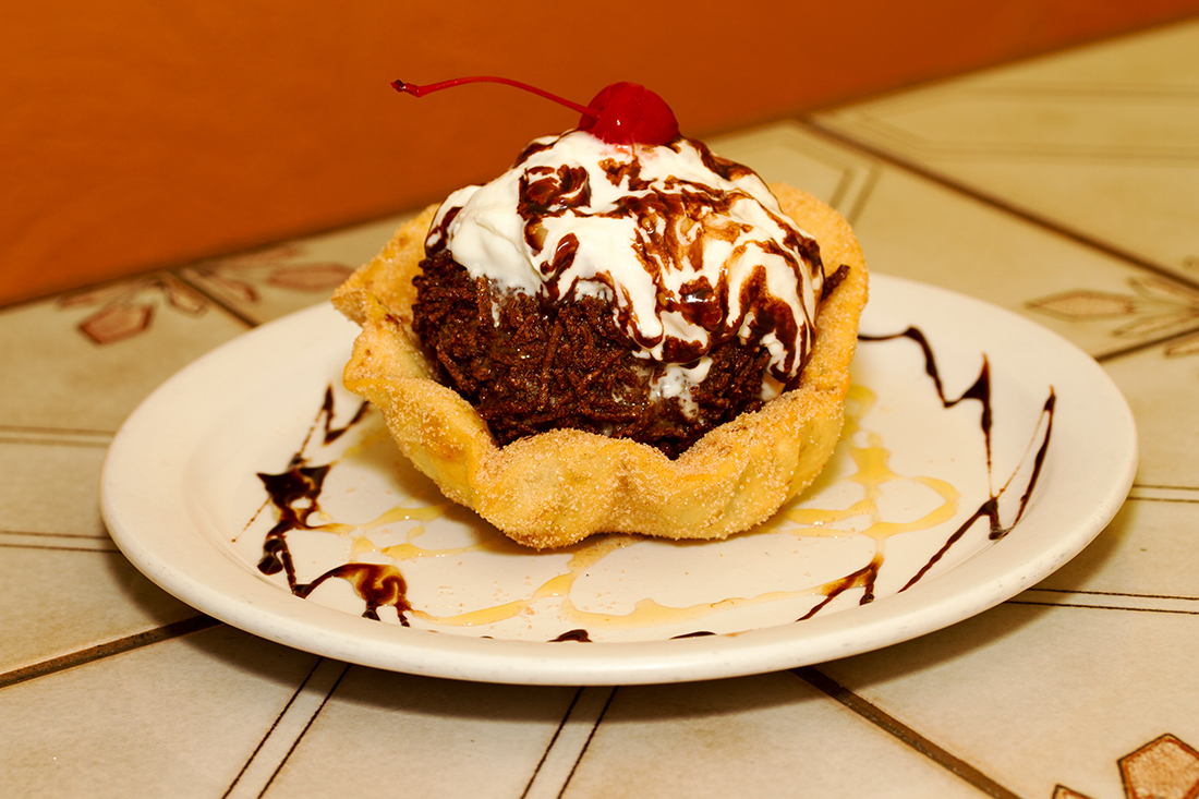 Herby's fried ice cream