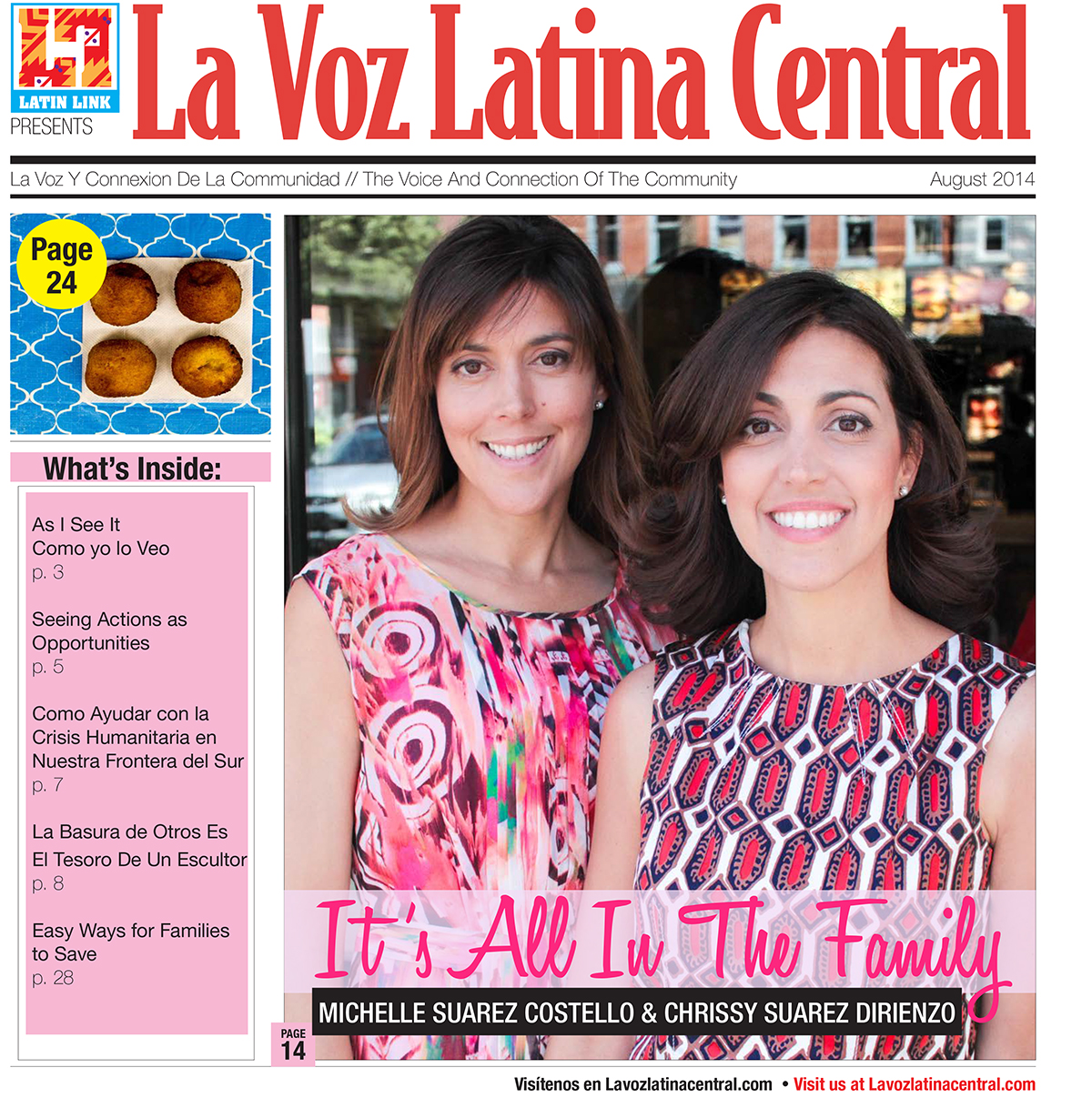 La Voz Latina Central Magazine August issue