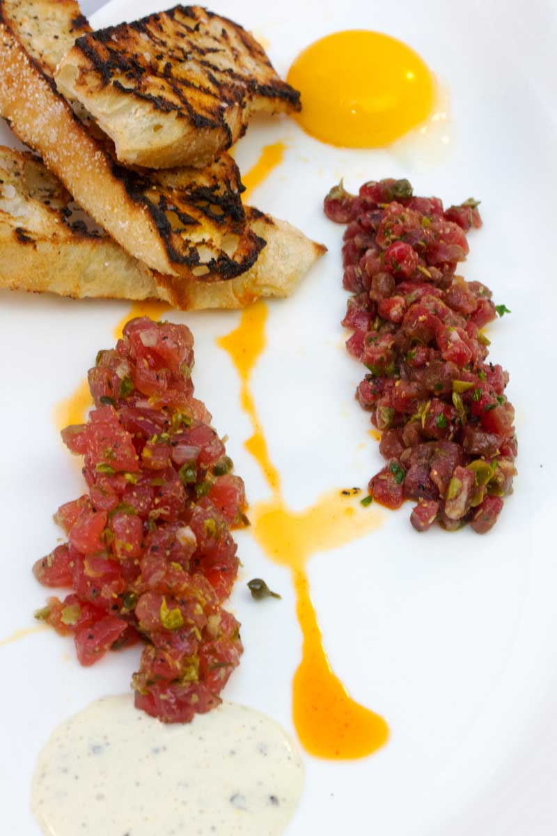 Ahi Tuna and Prime Beef TarTare