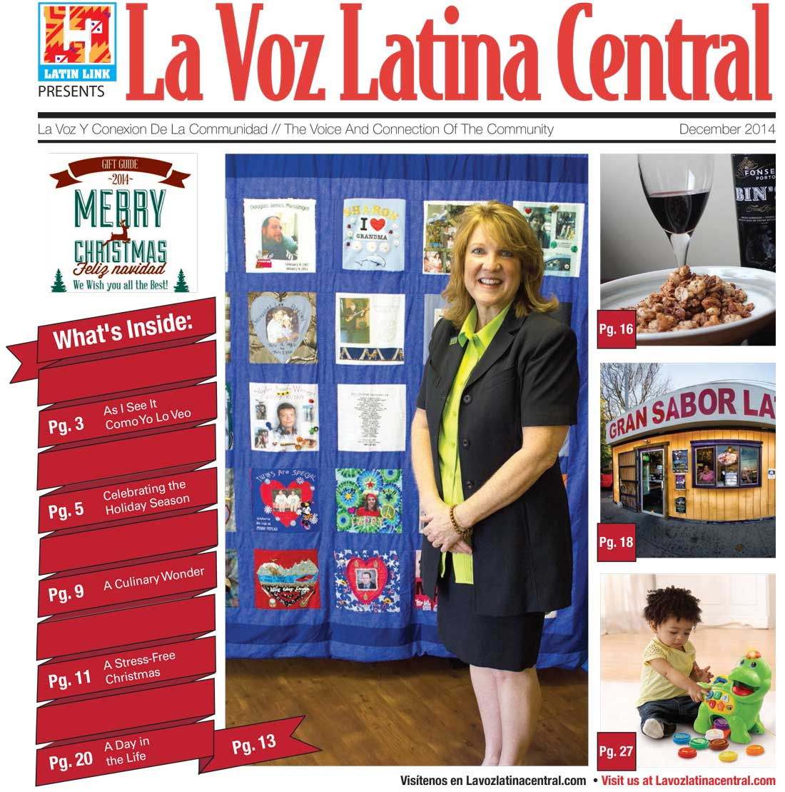 La Voz Latina Central December 2014 issue