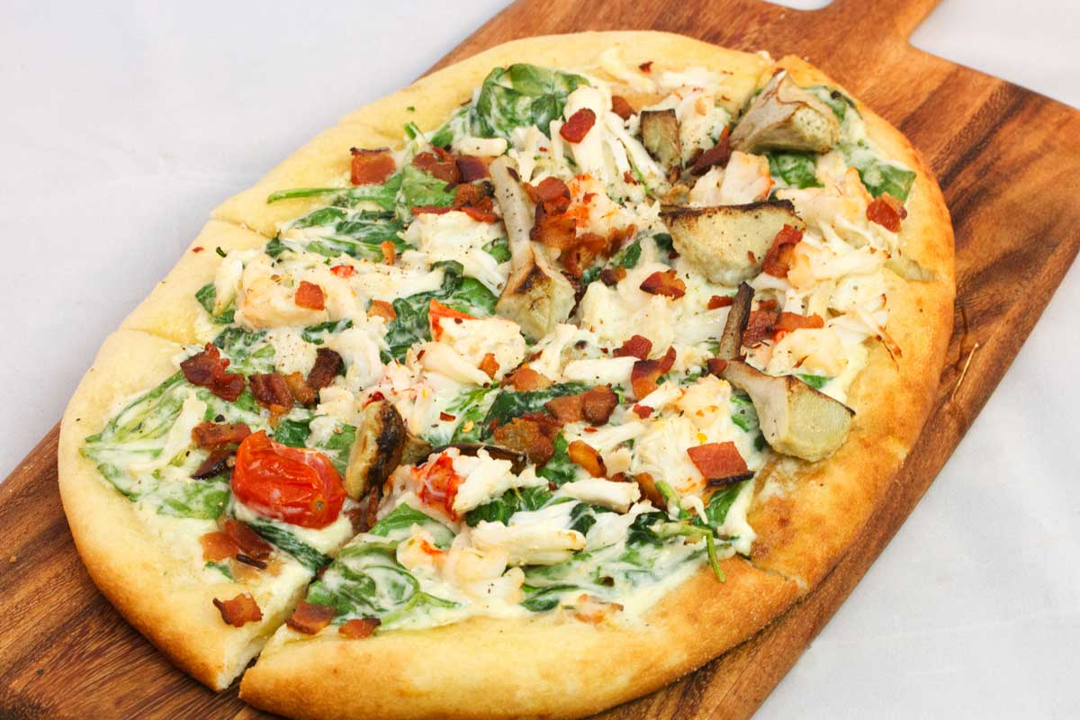 Lump Crab and Lobster Flatbread