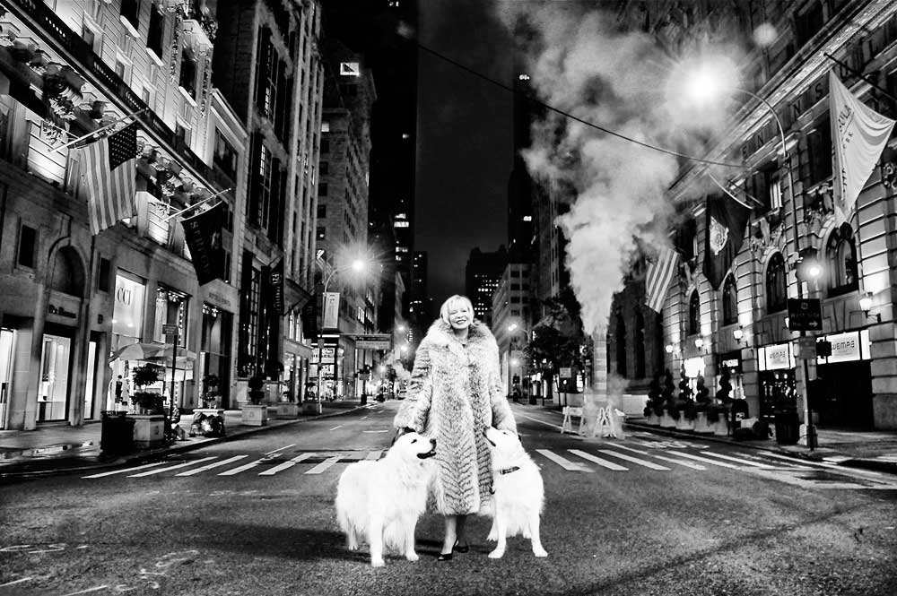 Linda and the dogs in NYC