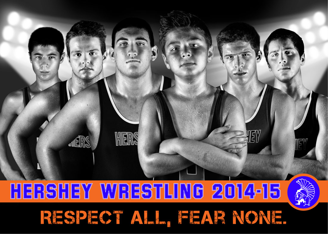 Hershey Wrestling Senior Varsity team