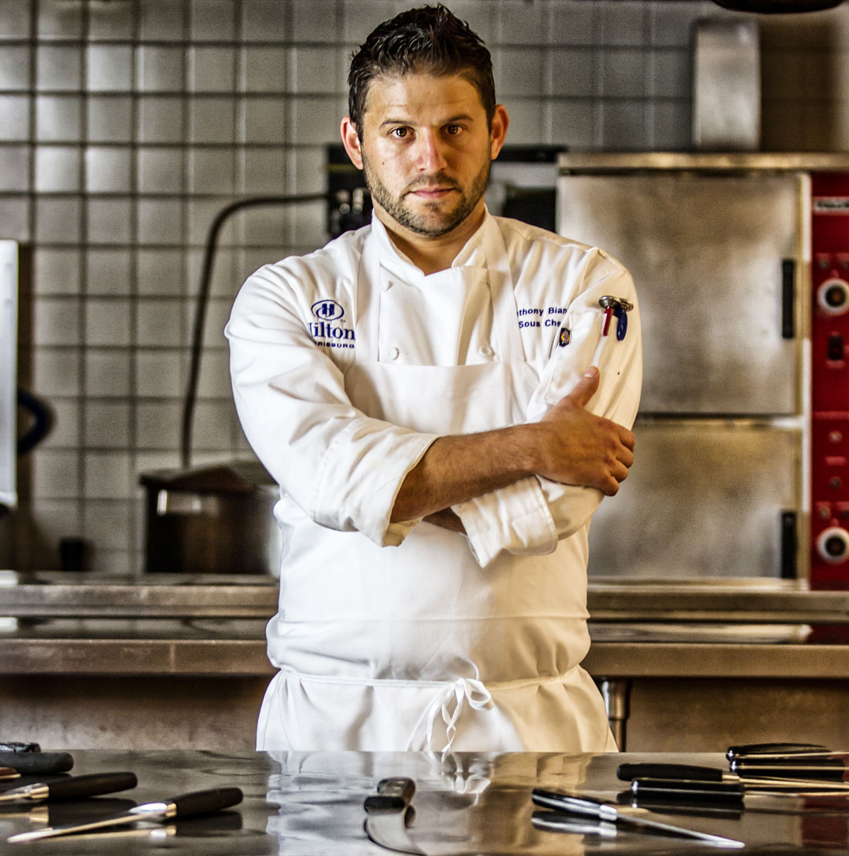 Hilton Harrisburg Hotel's Executive Sous Chef, Tony Bianco