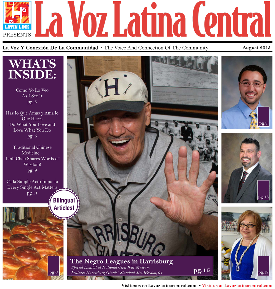 La Voz Latina Central August 2015 ~ Jim Weedon