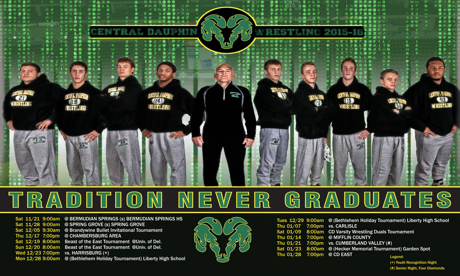Central Dauphin Wrestling poster 2015-2016