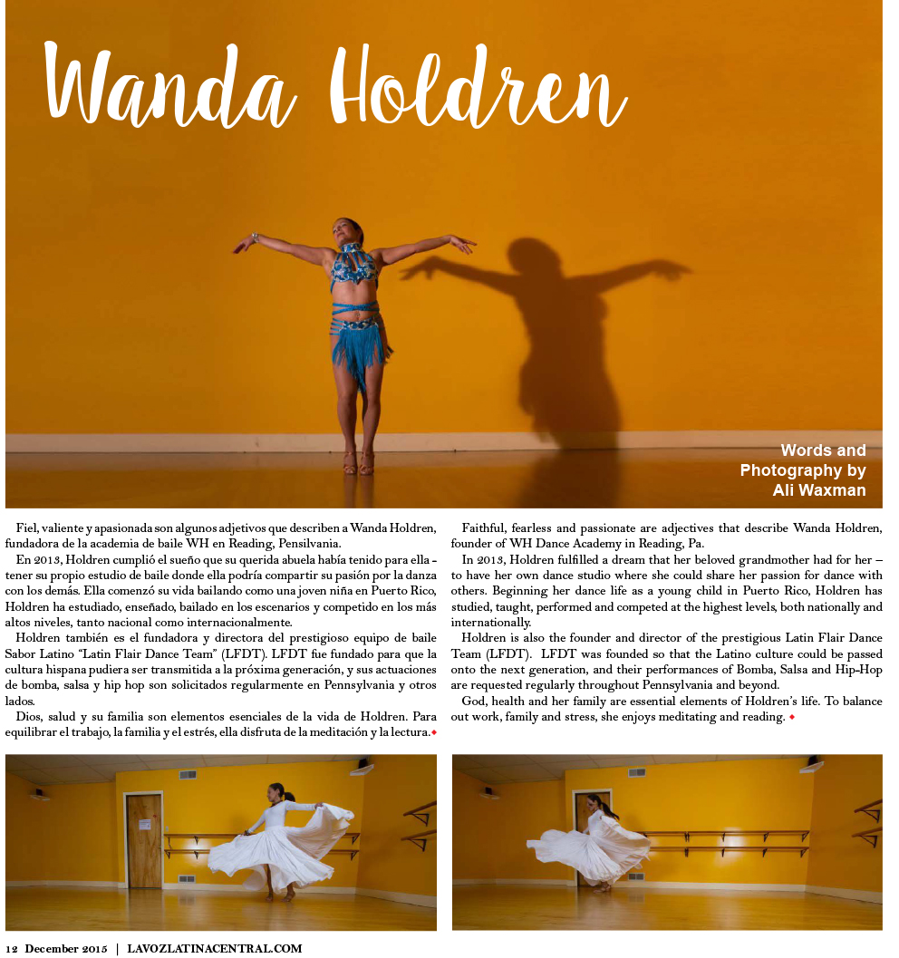 Wanda Holdren, La Voz Latina Central, December 2015
