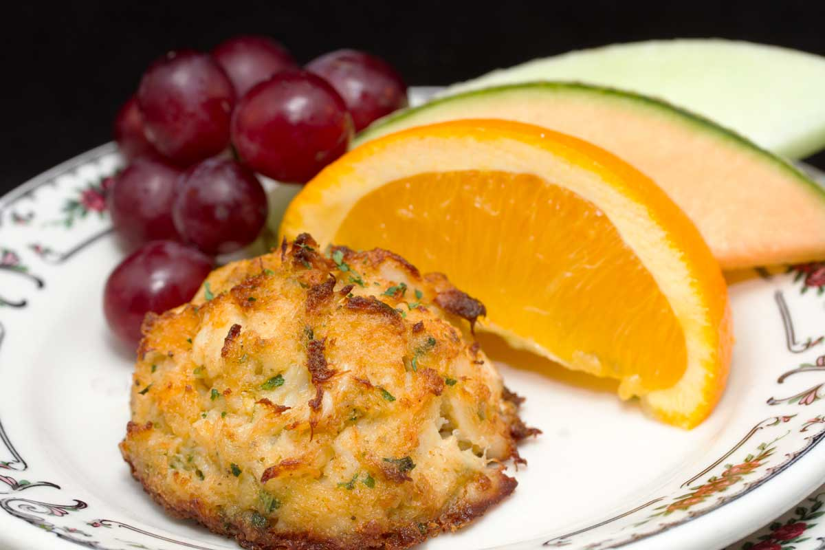Crab Cake with fruit