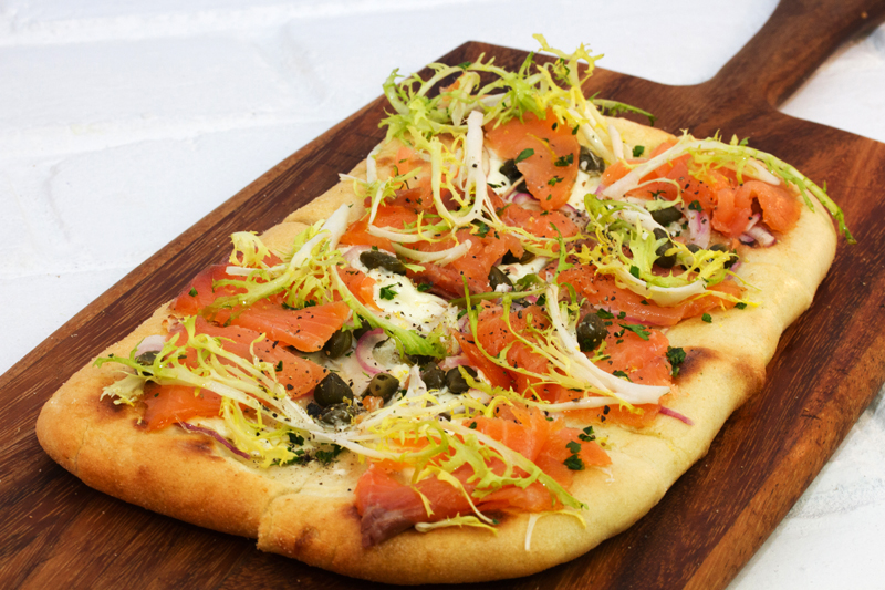 Salmon Flatbread at Hilton