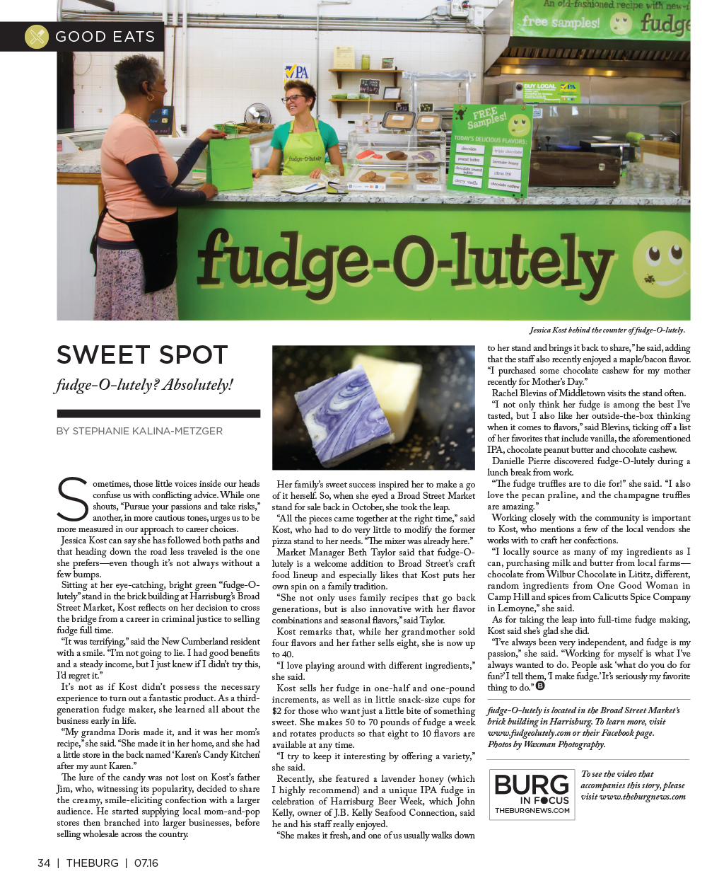 The Burg July 2016 Fudge-o-lutely article