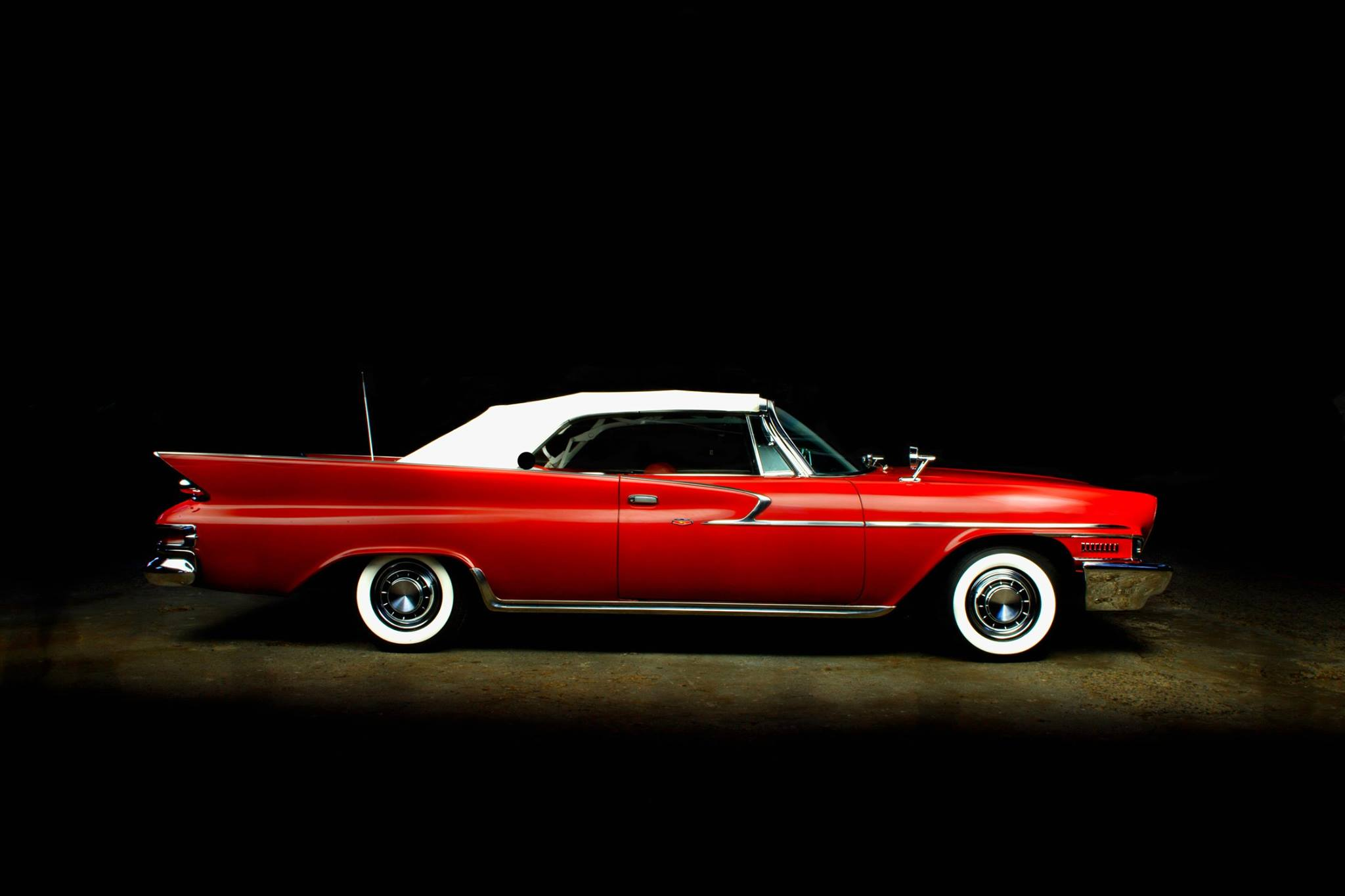 Reddish Chrysler on Black