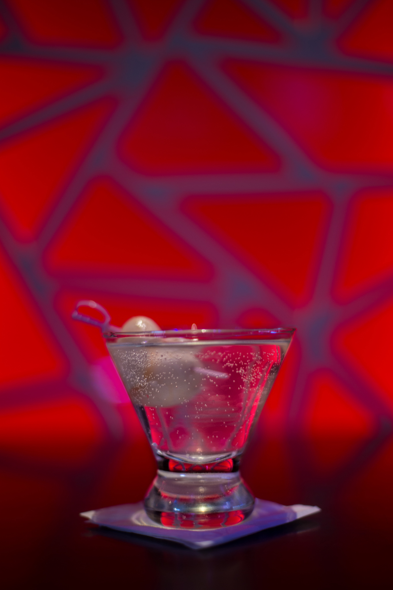 cocktail with red background