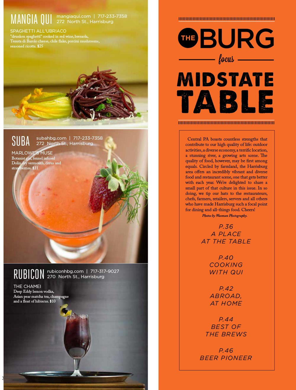The Burg 2017 Midstate Table Dining Guide